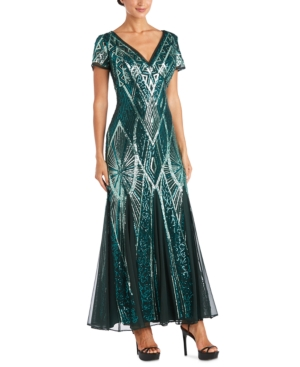 1920s Fashion & Clothing | Roaring 20s Attire R  M Richards Petite Sequin Gown $159.00 AT vintagedancer.com