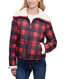 Faux-Sherpa-Lined Puffer Jacket