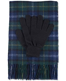 Men's Tartan Scarf And Glove Gift Set