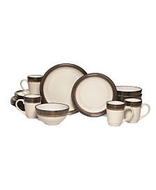 Gourmet Basics by bailey 16 pc dinnerware set, service for 4