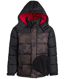 Little Boys Hooded Quilted Puffer Coat