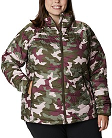 Plus Size Powder Lite Camouflage Quilted Puffer Jacket