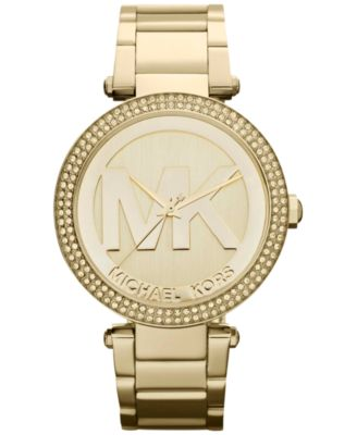 Women's Parker Gold-Tone Stainless Steel Bracelet Watch 39mm MK5784