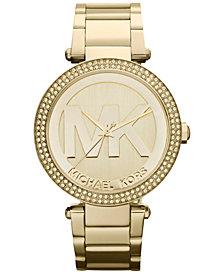 Michael Kors Women's Parker Gold-Tone Stainless Steel Bracelet Watch 39mm MK5784