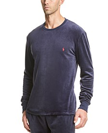 Men's Velour Pajama Shirt