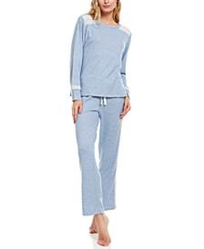 Charlie Lace-Trim Hacci Pajama Set