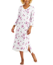 Floral-Print Long Nightgown, Created for Macy's