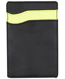 Men's Colorblocked Faux-Leather Adhesive Card Case