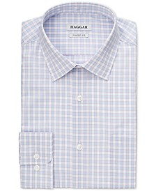 Men's Slim-Fit Comfort Stretch Check Dress Shirt