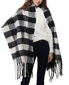 INC Buffalo Check Blanket Scarf, Created for Macy's