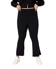 Trendy Plus Size Bella Rib Flare Pant