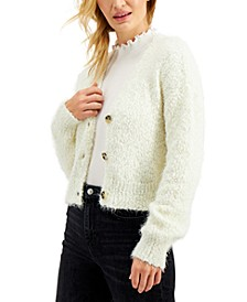 Juniors' Eyelash Popcorn-Knit Cardigan