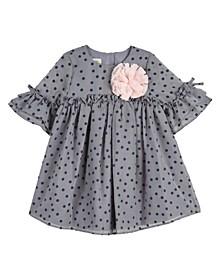 Baby Girls Velvet Dot Chiffon Dress