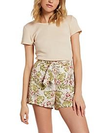 Juniors Floral-Print Shorts