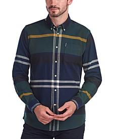 Men's Tailored-Fit Tartan Shirt