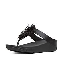 Women's Fino Bead Pompom Wedge Sandal