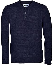 Men's Wool Blend Henley Sweater