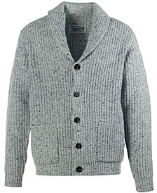 Men's Heathered Fleck Ribbed Cardigan