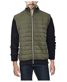 Men's Lightly Padded Hybrid Sweater Jacket