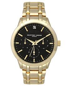 Men's Gold-tone Metal Alloy Bracelet Watch, 40 mm