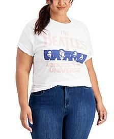 Trendy Plus Size Cotton The Beatles Graphic T-Shirt