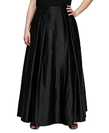 Plus Size Satin Ball Gown Skirt