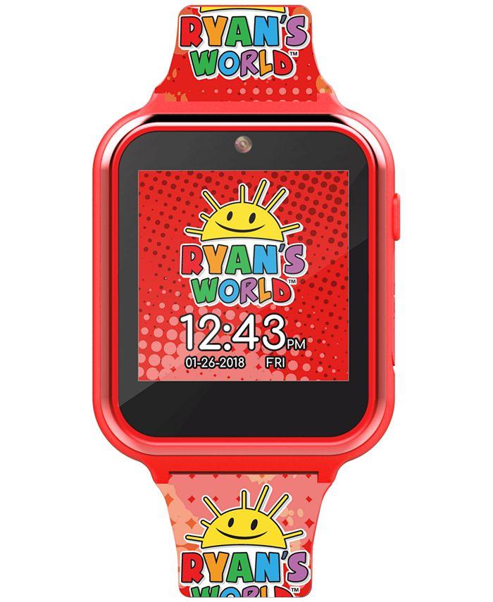 Accutime - Kid's Ryan's World Multicolored Silicone Strap Smart Watch 46x41mm