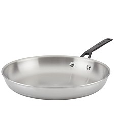 "Polished Stainless Steel 12"" Fry Pan"
