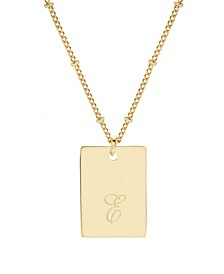 14K Gold Plated Saylor Initial Pendant