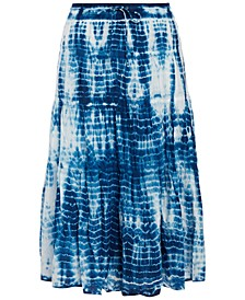 Tie-Dyed Peasant Skirt