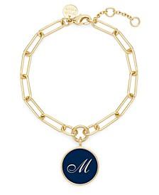 14K Gold Plated Callie Enamel Initial Bracelet