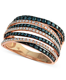 Bella Bleu by EFFY® Diamond Crossover Ring (1 ct. t.w.) in 14k Rose Gold