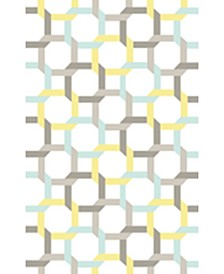 Color Chain MSR4563C Azure 4' x 6' Area Rug