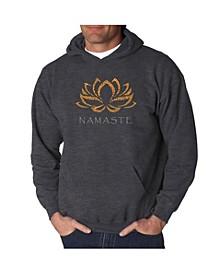 Men's Word Art Hooded Sweatshirt - Namaste