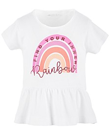 Toddler Girls Graphic Peplum Cotton T-Shirt, Created for Macy's