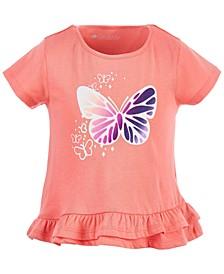 Toddler Girls Graphic Ruffle-Hem Cotton T-Shirt, Created for Macy's