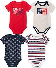 Baby Boys 4-Pack Bodysuits