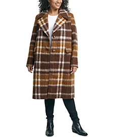 Plus Size Plaid Walker Coat