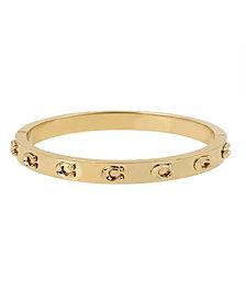COACH Signature C Hinged Bangle Bracelet