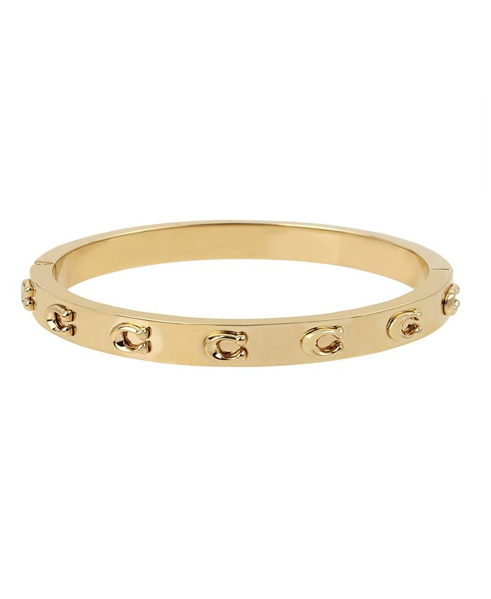 COACH - Signature C Hinged Bangle Bracelet