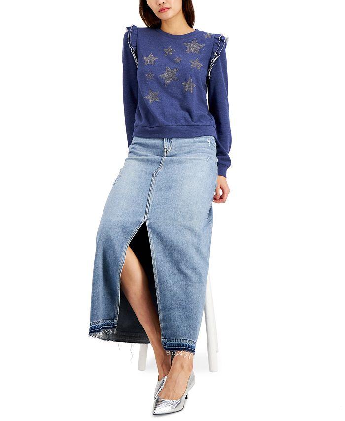 INC International Concepts - Ruffled Star Sweatshirt