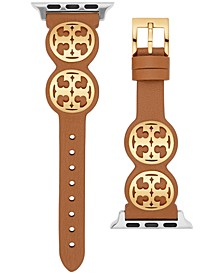 Miller Logo Studded Brown Leather Strap For Apple Watch® 38mm/40mm