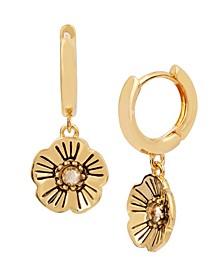 Tea Rose Swarovski® Crystals Huggie Earrings