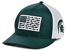 Michigan State Spartans PFG Fish Flag Stretch-fitted Cap