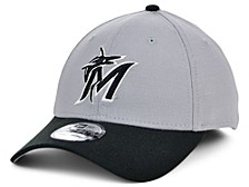 Miami Marlins Team Classic Gray Black White 39THIRTY Cap