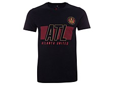 Authentic MLS Apparel Atlanta United FC Men's Iconic Cotton Speed Slant T-Shirt