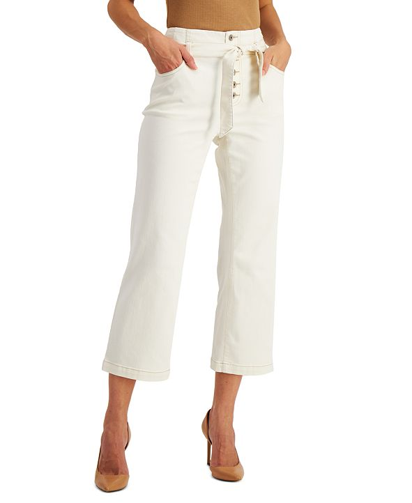 INC International Concepts INC Cropped Button-Fly Jeans, Created for Macy's