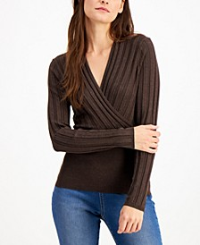 INC Surplice Sweater, Created for Macy's