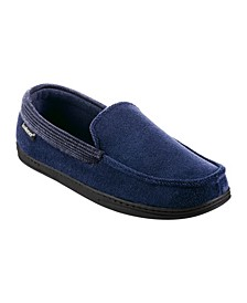 Men's Memory Foam Microterry and Waffle Travis Moccasin Slippers