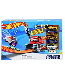 Hot Wheels Crane Crasher Play Set With 5 Racing Vehicles (33% Off) -- Comparable Value $29.99